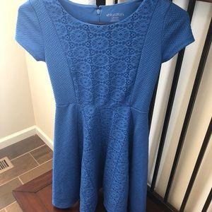 Blue girl's size L dress